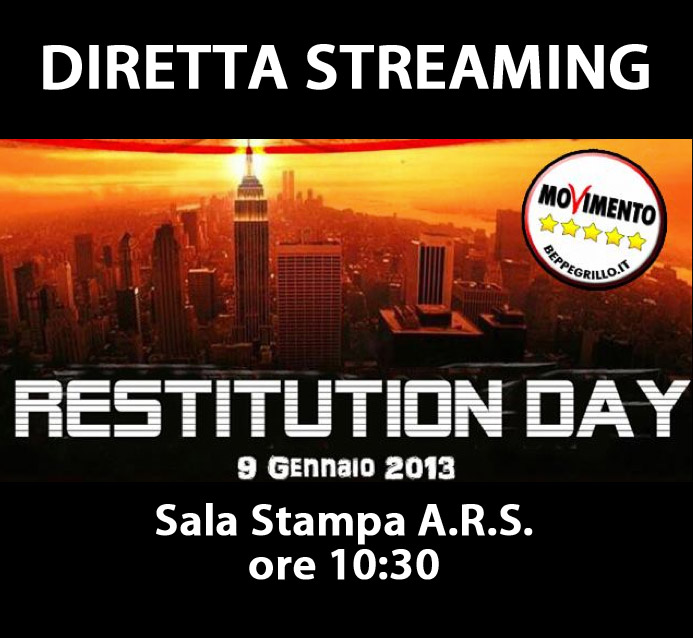Oggi il restitution day diretta streaming dalla sala for Diretta parlamento oggi