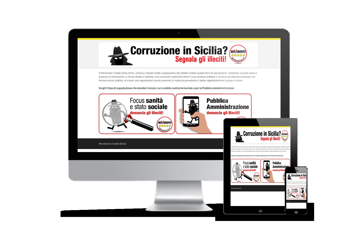 mockup sito anti corruzione