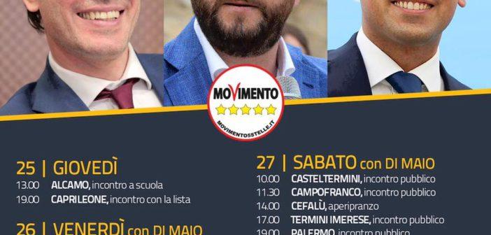 Luigi Di Maio, mini-tour siciliano il 26 e 27 maggio. Tappe da Pozzallo a Trapani, sabato a Palermo