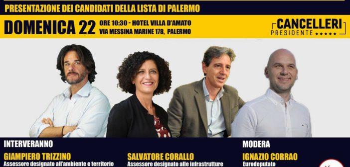 M5S:Per la prima volta tutti insieme, domenica mattina a Palermo gli assessori designati da Cancelleri incontrano i cittadini
