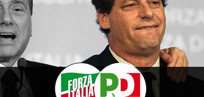 """""""M5S: Berlusconi ordina, il Pd esegue.  L'inciucio è servito: il Renzusconi inzia da qui"""""""