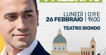 Luigi Di Maio a Palermo il 26 febbraio