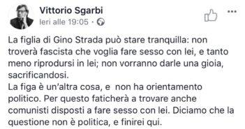 M5S, Musumeci ritiri delega a Sgarbi, insulti a Cecilia Strada indecenti, pronta mozione censura