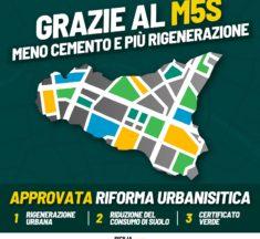 """M5S: """"Noi determinanti per dare una svolta ambientale alla legge urbanistica approvata oggi"""""""
